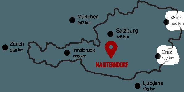Lage & Anreise nach Mauterndorf