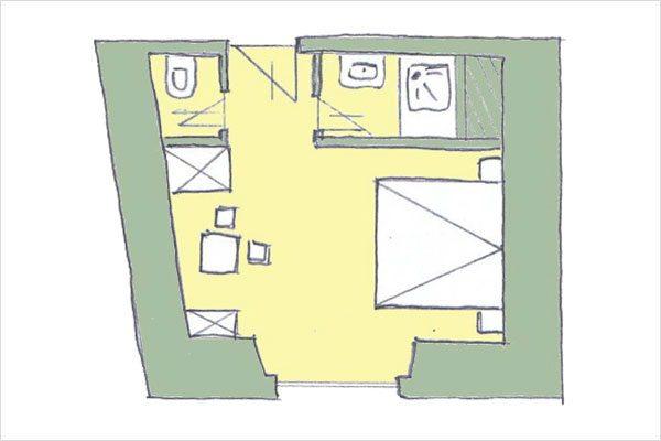 Grundriss Mitterberg – Zimmer in Mauterndorf, Lungau - 3 Sterne Hotel Neuwirt