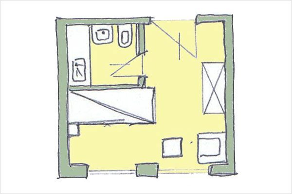 Grundriss Moserkopf – Zimmer in Mauterndorf, Lungau - 3 Sterne Hotel Neuwirt
